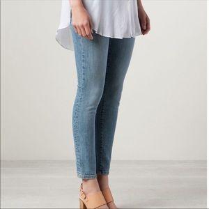 Baldwin The Rivington Mid Rise Peg Leg Crop Jeans